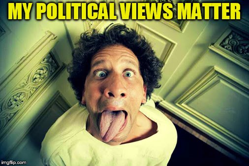 MY POLITICAL VIEWS MATTER | made w/ Imgflip meme maker