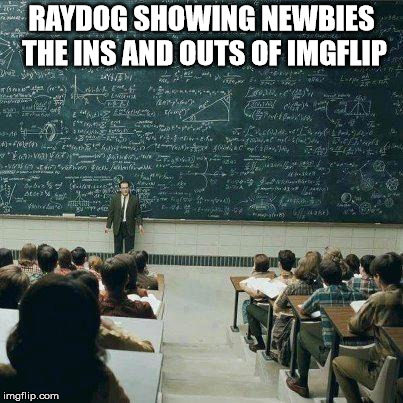 School | RAYDOG SHOWING NEWBIES THE INS AND OUTS OF IMGFLIP | image tagged in school | made w/ Imgflip meme maker