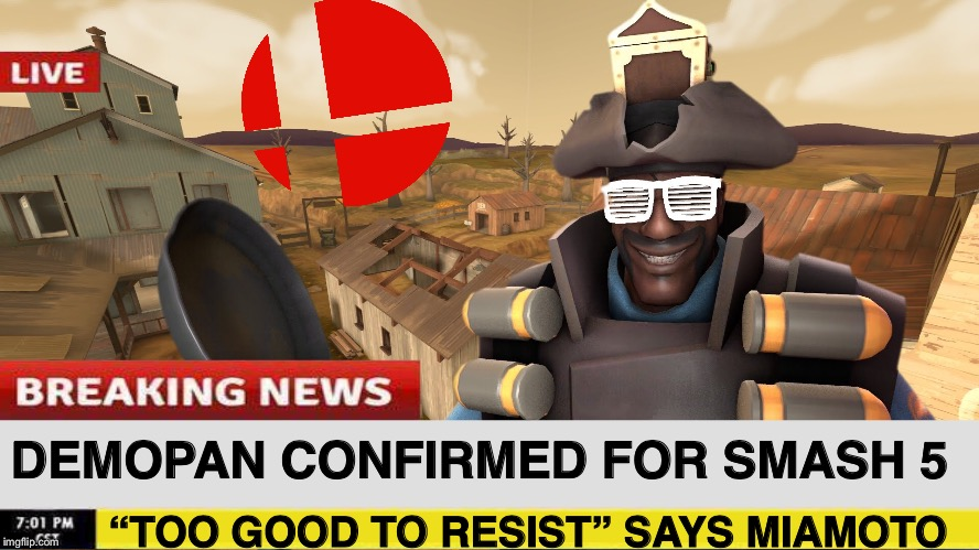 "Oh, if only... | DEMOPAN CONFIRMED FOR SMASH 5 ""TOO GOOD TO RESIST"" SAYS MIAMOTO 