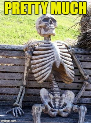 Waiting Skeleton Meme | PRETTY MUCH | image tagged in memes,waiting skeleton | made w/ Imgflip meme maker