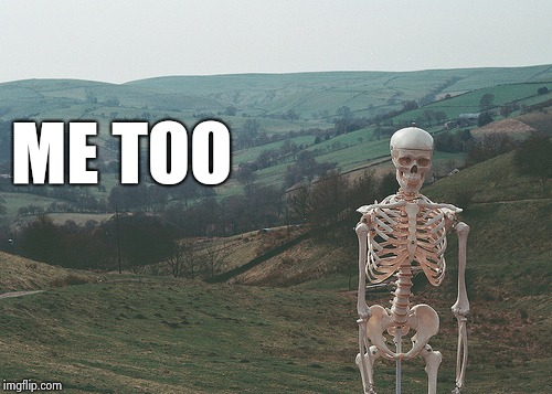 Skeleton vacation | ME TOO | image tagged in skeleton vacation | made w/ Imgflip meme maker