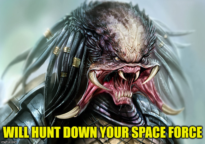 WILL HUNT DOWN YOUR SPACE FORCE | made w/ Imgflip meme maker