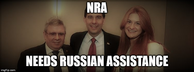 NRA and Russian Conspirator | NRA NEEDS RUSSIAN ASSISTANCE | image tagged in nra and russian conspirator | made w/ Imgflip meme maker