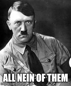 Adolf Hitler | ALL NEIN OF THEM | image tagged in adolf hitler | made w/ Imgflip meme maker
