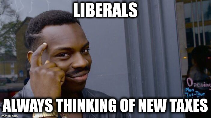 Roll Safe Think About It Meme | LIBERALS ALWAYS THINKING OF NEW TAXES | image tagged in memes,roll safe think about it | made w/ Imgflip meme maker