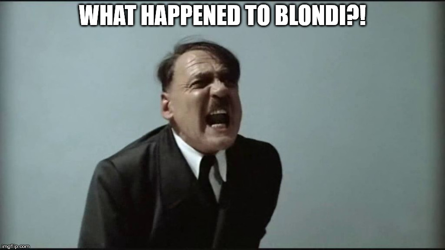 Fegelein! | WHAT HAPPENED TO BLONDI?! | image tagged in fegelein | made w/ Imgflip meme maker