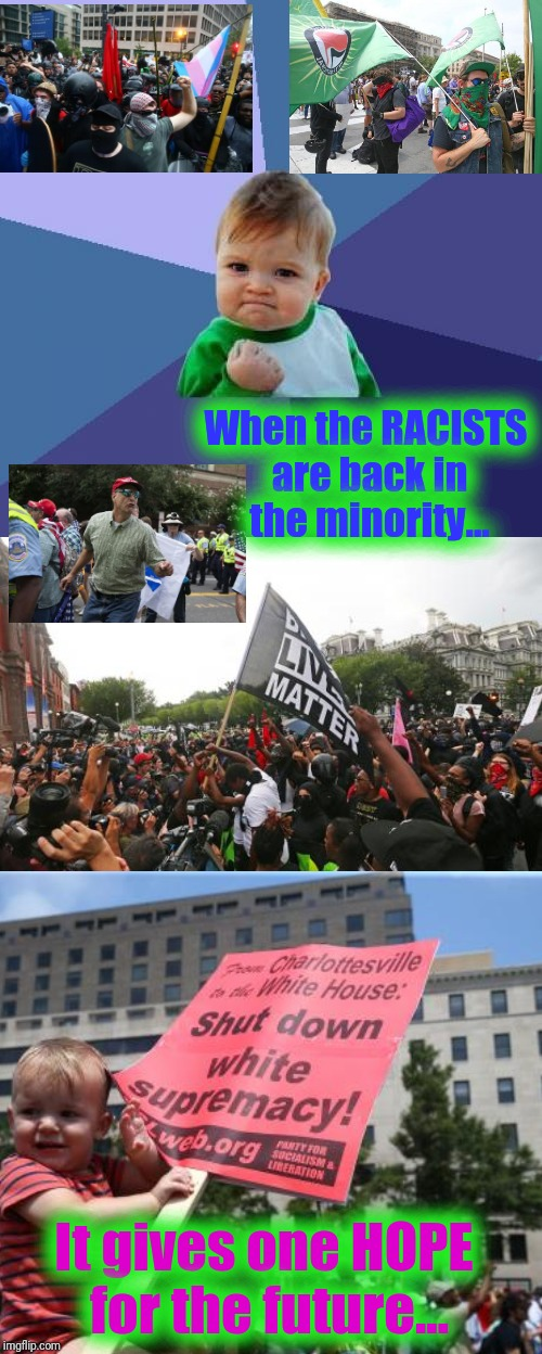 "When the ""Rise Up - Fight Back Counter Protest"" - dwarfs the ""White Nationalists' "" Gathering... 