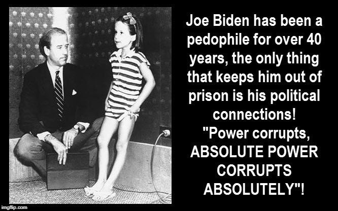 Joe Biden Has Been a Pedophile for Over 40 Years | image tagged in joe biden,pedophile | made w/ Imgflip meme maker