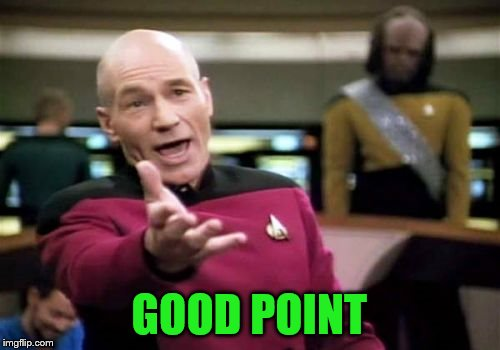 Picard Wtf Meme | GOOD POINT | image tagged in memes,picard wtf | made w/ Imgflip meme maker