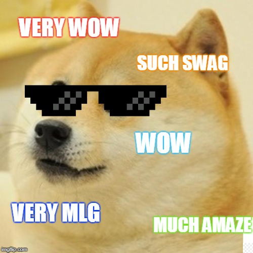 Doge | VERY WOW SUCH SWAG WOW VERY MLG MUCH AMAZE | image tagged in memes,doge | made w/ Imgflip meme maker