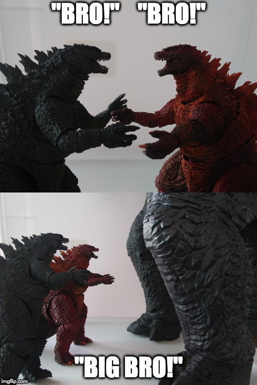 "godzilla brothers | ""BRO!""    ""BRO!"" ""BIG BRO!"" 