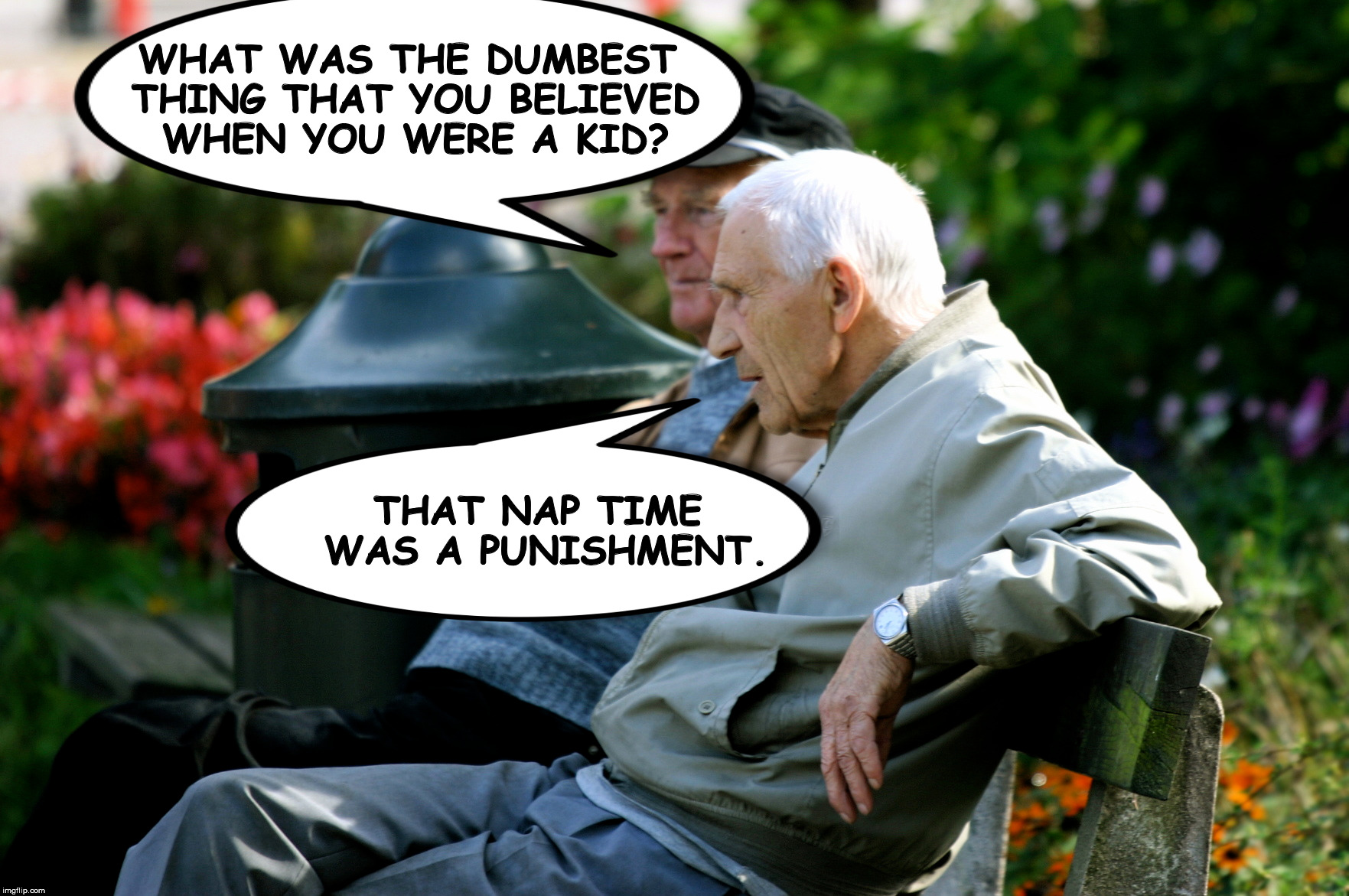 I may not be this old, but I agree 100% | WHAT WAS THE DUMBEST THING THAT YOU BELIEVED WHEN YOU WERE A KID? THAT NAP TIME WAS A PUNISHMENT. | image tagged in age,kids,dumb things,naps | made w/ Imgflip meme maker