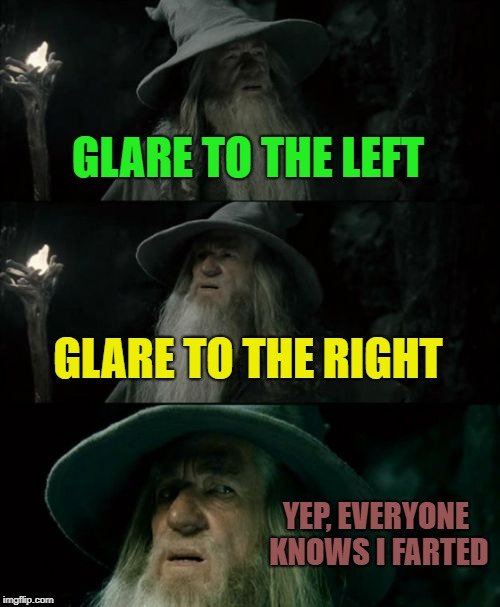 Who Farted? | GLARE TO THE LEFT GLARE TO THE RIGHT YEP, EVERYONE KNOWS I FARTED | image tagged in memes,confused gandalf,funny,fart jokes | made w/ Imgflip meme maker