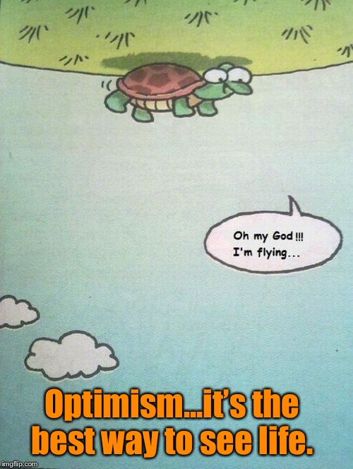It's all in how you see things  | Optimism...it's the best way to see life. | image tagged in optimism,inspirational quote | made w/ Imgflip meme maker