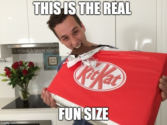 THIS IS THE REAL FUN SIZE | made w/ Imgflip meme maker