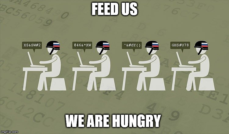 Troll Farm | FEED US WE ARE HUNGRY | image tagged in troll farm | made w/ Imgflip meme maker