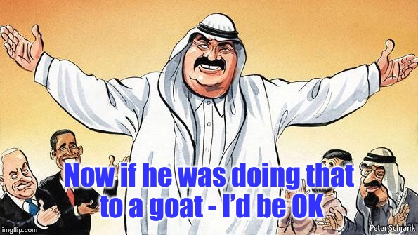 Infidels-cartoon | Now if he was doing that to a goat - I'd be OK | image tagged in infidels-cartoon | made w/ Imgflip meme maker