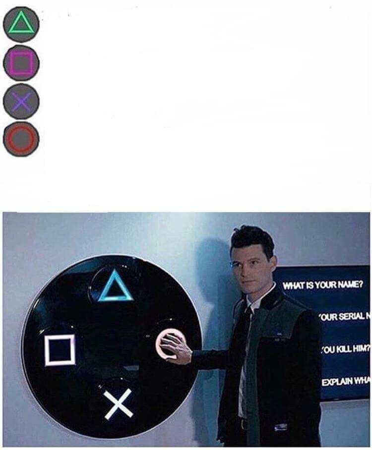 High Quality PlayStation button choices Blank Meme Template