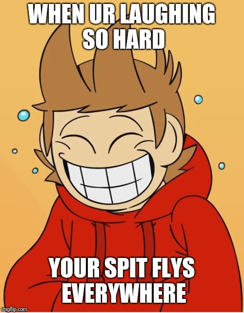 Eddsworld | WHEN UR LAUGHING SO HARD YOUR SPIT FLYS EVERYWHERE | image tagged in eddsworld | made w/ Imgflip meme maker