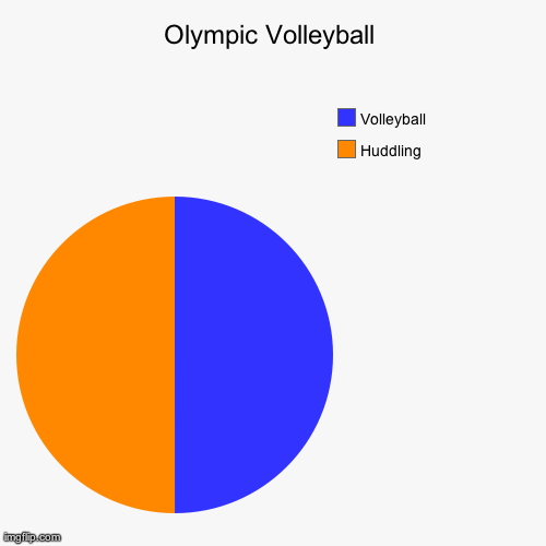 Olympic Volleyball | image tagged in funny,pie charts | made w/ Imgflip pie chart maker