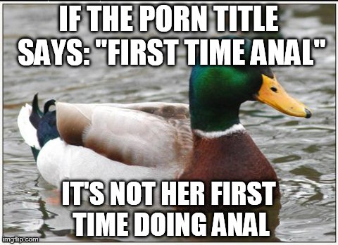 actual first time anal