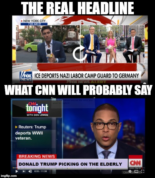 Liberal spin |  THE REAL HEADLINE; WHAT CNN WILL PROBABLY SAY | image tagged in cnn fake news | made w/ Imgflip meme maker