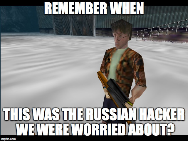 Remember Boris | REMEMBER WHEN THIS WAS THE RUSSIAN HACKER WE WERE WORRIED ABOUT? | image tagged in goldeneye,n64,boris,007,remember | made w/ Imgflip meme maker