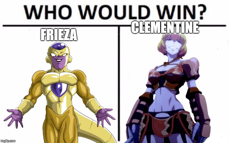 FRIEZA CLEMENTINE | image tagged in evil,shiny,dragon ball z,overlord | made w/ Imgflip meme maker