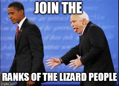Lizard Mans Eats Obama To Turn Him Into One Of Them | JOIN THE RANKS OF THE LIZARD PEOPLE | image tagged in obama,shapeshifting lizard,eating,us government | made w/ Imgflip meme maker