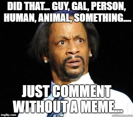 Katt Williams WTF Meme | DID THAT... GUY, GAL, PERSON, HUMAN, ANIMAL, SOMETHING.... JUST COMMENT WITHOUT A MEME... | image tagged in katt williams wtf meme | made w/ Imgflip meme maker
