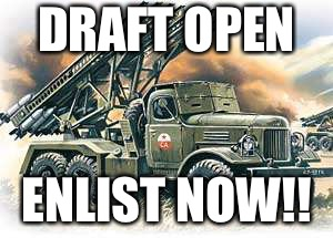 DRAFT OPEN ENLIST NOW!! | made w/ Imgflip meme maker