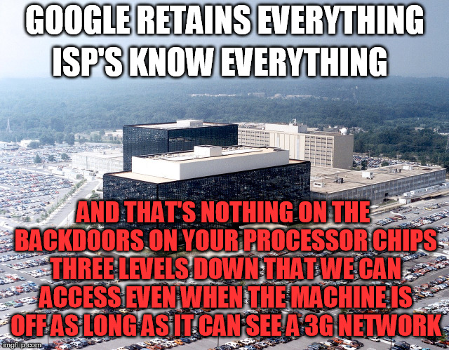 "Never kid yourself into believing even with encryption and VPN that your computer is ""secure"" 