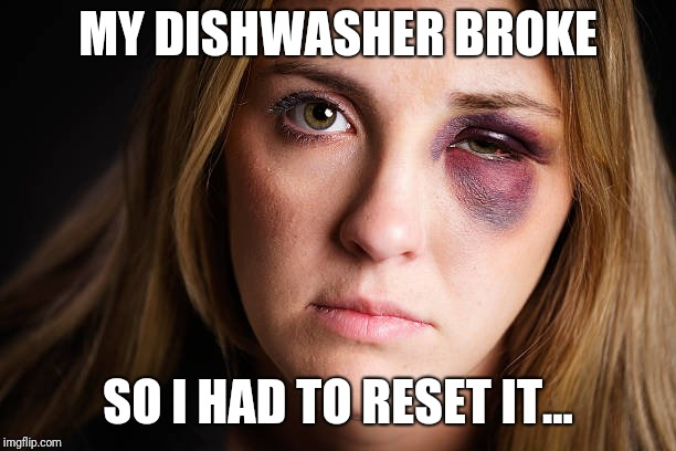 MY DISHWASHER BROKE SO I HAD TO RESET IT... | image tagged in trump,cnn fake news,philosoraptor,futurama fry,pie charts,hillary clinton | made w/ Imgflip meme maker