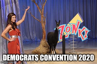 Zonk | DEMOCRATS CONVENTION 2020 | image tagged in zonk | made w/ Imgflip meme maker