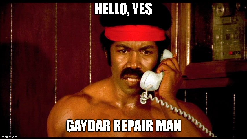 HELLO, YES GAYDAR REPAIR MAN | made w/ Imgflip meme maker