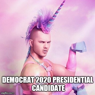 Non-Binary gender fluid other kin two spirit | DEMOCRAT 2020 PRESIDENTIAL CANDIDATE | image tagged in memes,unicorn man | made w/ Imgflip meme maker