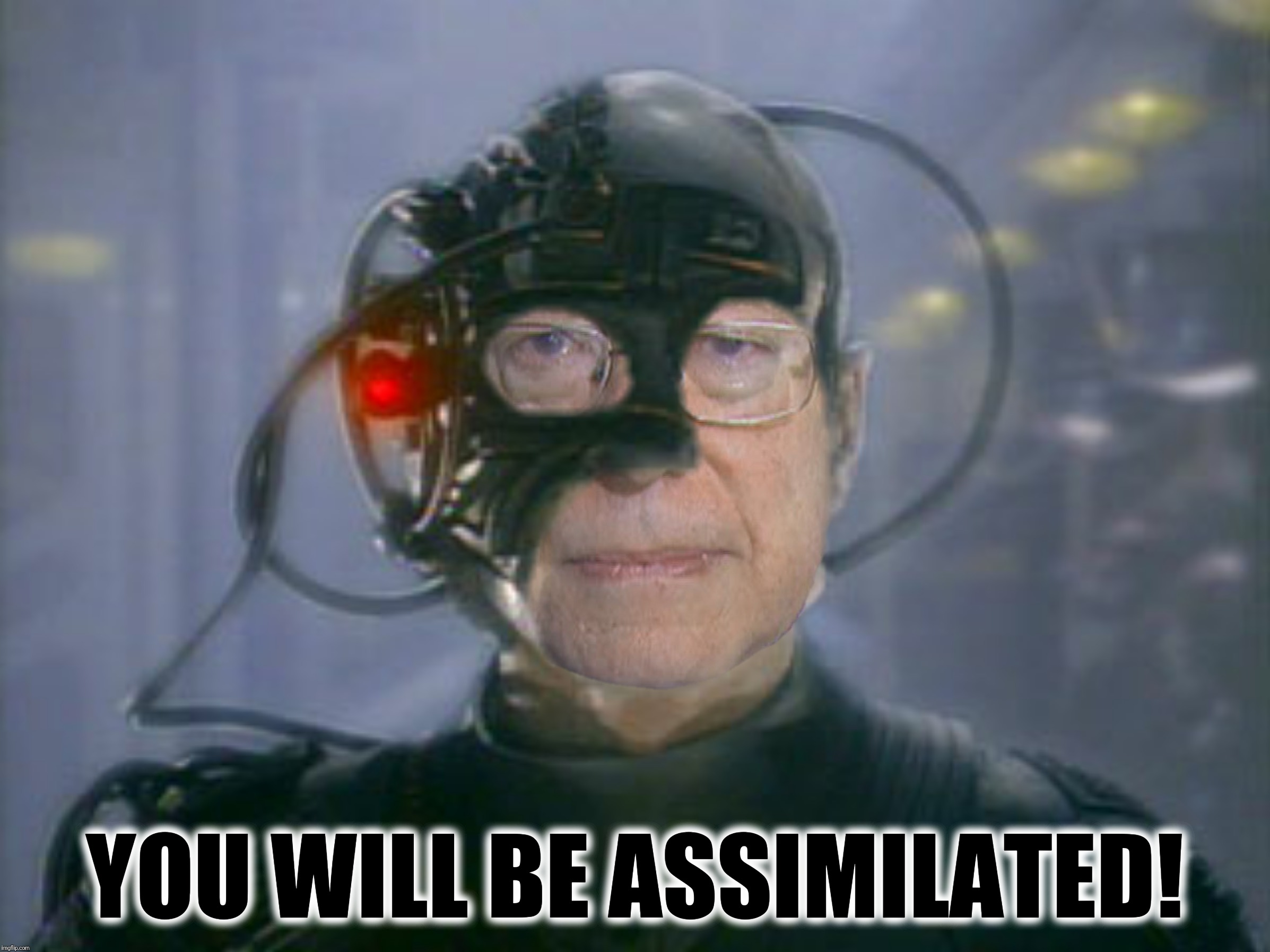 Bad Photoshop Sunday presents:  The Berg, Resistance is futile |  YOU WILL BE ASSIMILATED! | image tagged in bad photoshop sunday,bernie sanders,the borg,assimilation,star trek the next generation | made w/ Imgflip meme maker