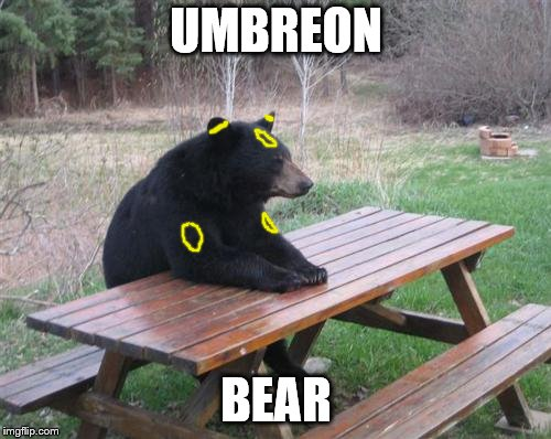 Bad Luck Bear | UMBREON BEAR | image tagged in memes,bad luck bear | made w/ Imgflip meme maker