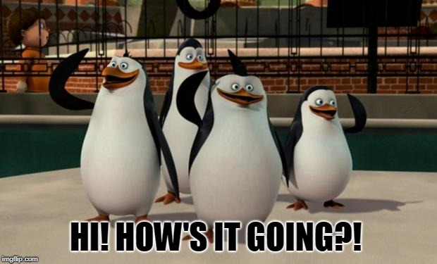 Just smile and wave boys | HI! HOW'S IT GOING?! | image tagged in just smile and wave boys | made w/ Imgflip meme maker