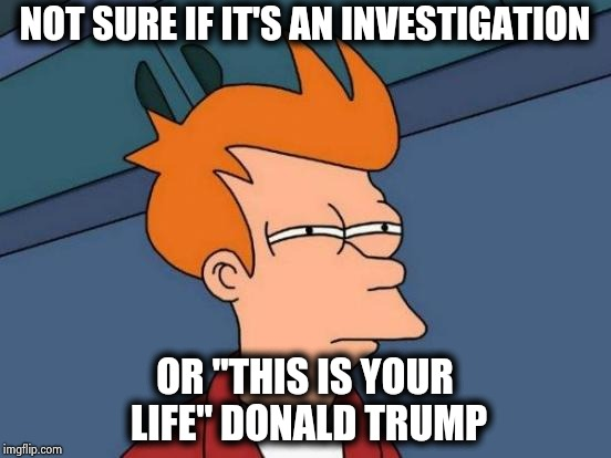 "I vaguely remember the beginning of Reality TV | NOT SURE IF IT'S AN INVESTIGATION OR ""THIS IS YOUR LIFE"" DONALD TRUMP 