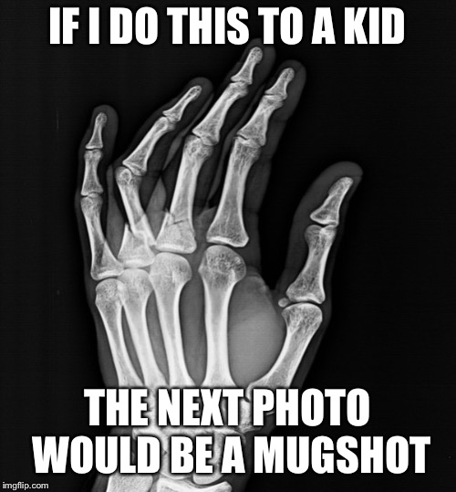 IF I DO THIS TO A KID THE NEXT PHOTO WOULD BE A MUGSHOT | made w/ Imgflip meme maker