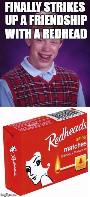 Dating a redhead meme