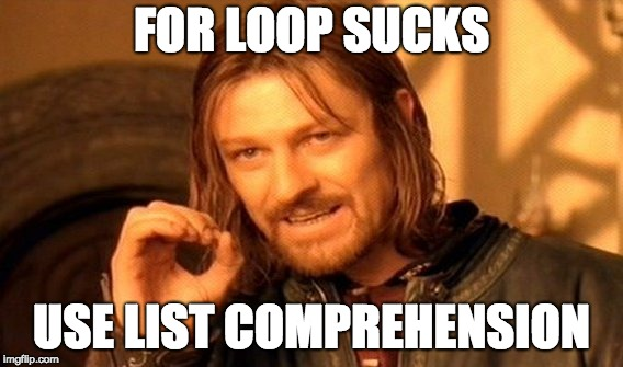 One Does Not Simply Meme - Imgflip | List comprehensions in python