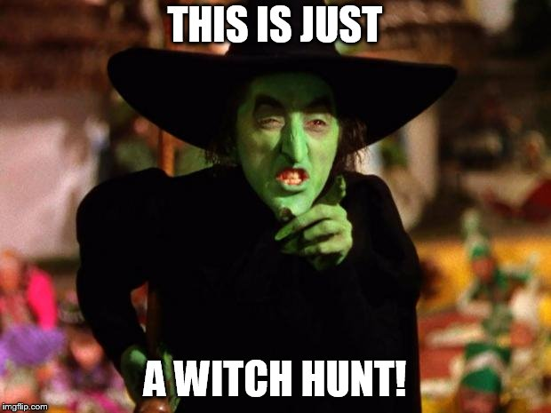 wicked witch  | THIS IS JUST A WITCH HUNT! | image tagged in wicked witch | made w/ Imgflip meme maker