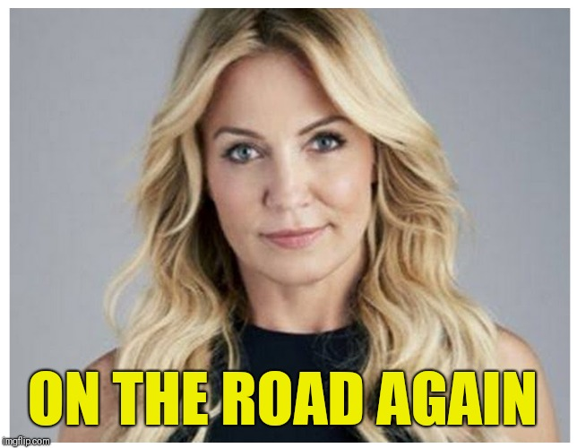 GET UP AND GET OUT  | ON THE ROAD AGAIN | image tagged in espn,nba,michelle beadle,get up | made w/ Imgflip meme maker