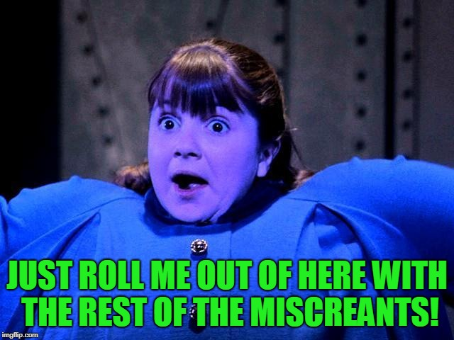 Violet Violet Willy Wonka Charlie Chocolate | JUST ROLL ME OUT OF HERE WITH THE REST OF THE MISCREANTS! | image tagged in violet violet willy wonka charlie chocolate | made w/ Imgflip meme maker