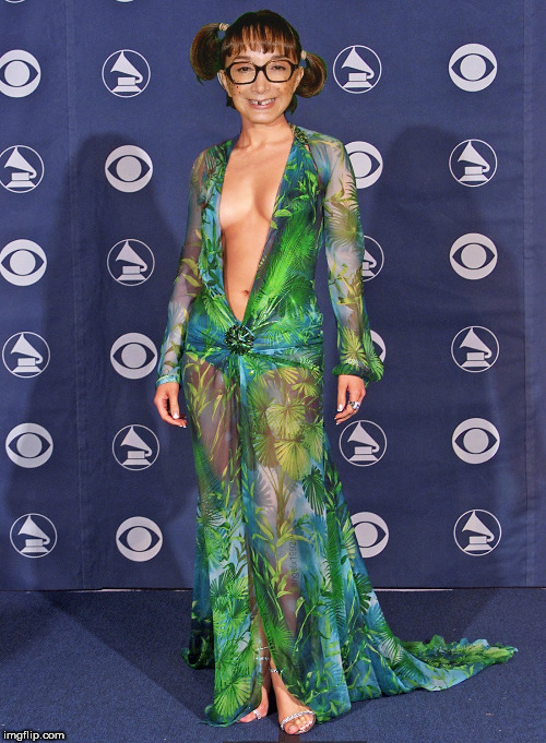 image tagged in chilindrina,jlo,dress,sexy,beautiful woman,grammys | made w/ Imgflip meme maker