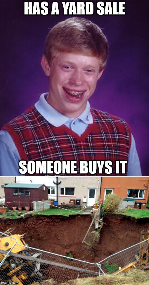 HAS A YARD SALE SOMEONE BUYS IT | made w/ Imgflip meme maker