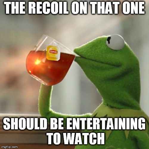 But Thats None Of My Business Meme | THE RECOIL ON THAT ONE SHOULD BE ENTERTAINING TO WATCH | image tagged in memes,but thats none of my business,kermit the frog | made w/ Imgflip meme maker