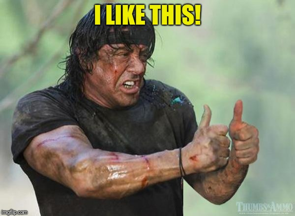 Sylvester Stallone Thumbs Up | I LIKE THIS! | image tagged in sylvester stallone thumbs up | made w/ Imgflip meme maker